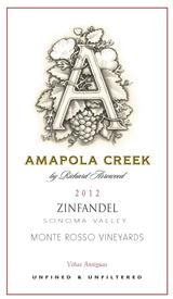 2012 Zinfandel, Sonoma Valley, Monte Rosso Vineyard