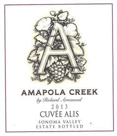 2013 Cuvée Alis, Sonoma Valley, Estate Vineyard