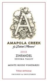 2013 Zinfandel, Sonoma Valley, Monte Rosso Vineyard