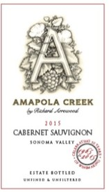 2015 Cabernet Sauvignon, Sonoma Valley, Estate Vineyard