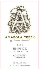 2016 Zinfandel, Sonoma Valley, Monte Rosso Vineyard