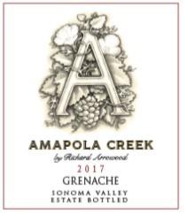 2017 Grenache, Sonoma Valley, Estate Vineyard