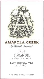 2017 Zinfandel, Sonoma Valley, Bartholowmew Park Vineyard