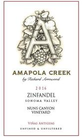 2016 Zinfandel, Sonoma Valley, Nuns Canyon