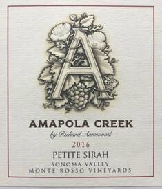 2016 Petite Sirah, Sonoma  Valley, Monte Rosso Vineyard