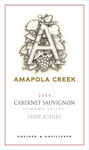 2009 Cabernet Sauvignon, Sonoma Valley,  Amapola Creek Estate Vineyard