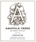 2016 Grenache, Sonoma Valley, Estate Vineyard