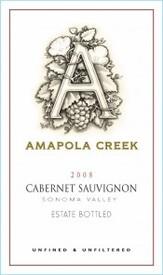 2008 Cabernet Sauvignon, Sonoma Valley, Amapola Creek Estate Vineyard