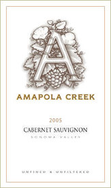 2005 Cabernet Sauvignon, Sonoma Valley, Amapola Creek Estate