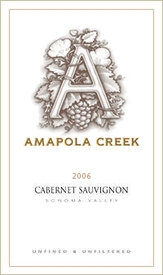 2006 Cabernet Sauvignon, Sonoma Valley, Amapola Creek Estate