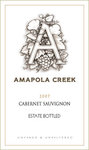 2007 Cabernet Sauvignon, Sonoma Valley, Amapola Creek Estate